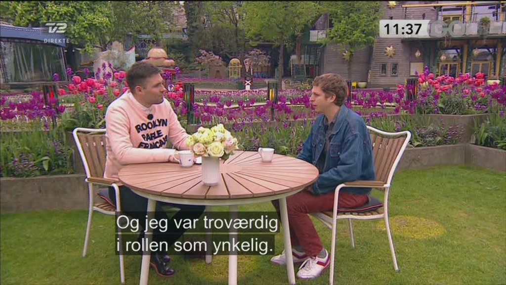 Michael Cera p&aring; bes&oslash;g i Danmark  Still