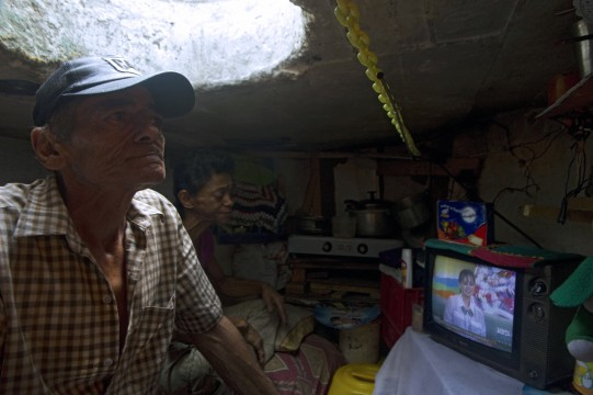 Sewer home with TV