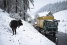 Galleri: Kraftigt snevejr i Alperne den 22/10 2014